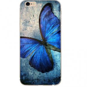 blauwe vlinder telefoonhoes