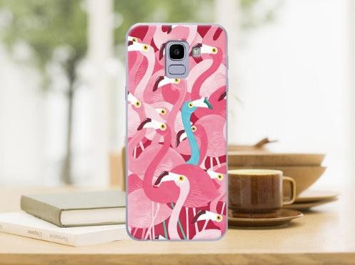 roze flamingo telefoonhoesje