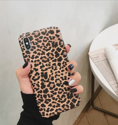 het bruin luipaard telefoonhoesje