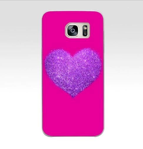 paars glitter hart