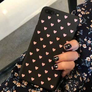 roze hartjes telefoonhoesje
