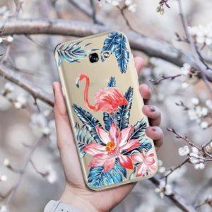 flamingo bloemen hoesje