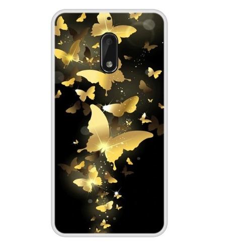 gouden vlinders telefoonhoes