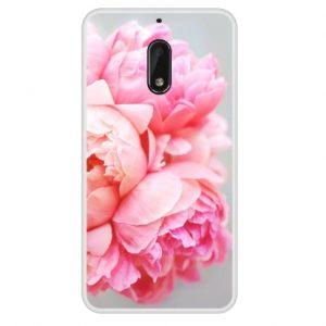 roze bloem telefooncase