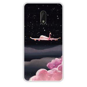 roze vliegtuig telefooncase