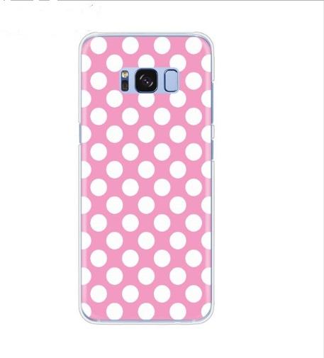 polka roze met wit hoesje
