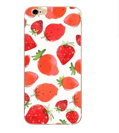 zomers aardbeien telefoonhoesje