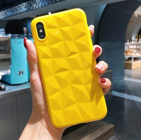 geel diamant telefoonhoesje
