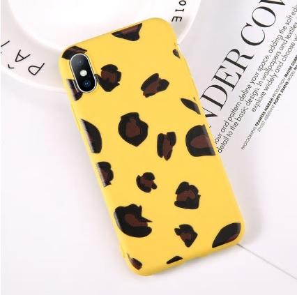 geel luipaard telefoonhoesje