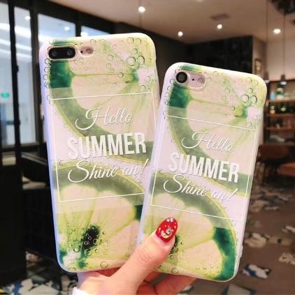 zomers lemon telefoonhoesje