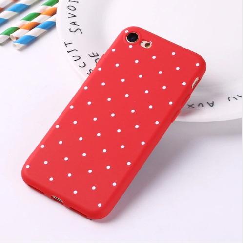rood polka telefoonhoesje