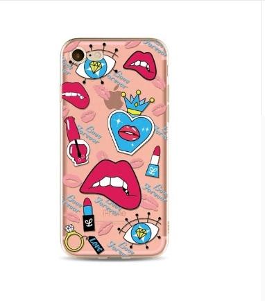 roze lipjes telefoonhoesje
