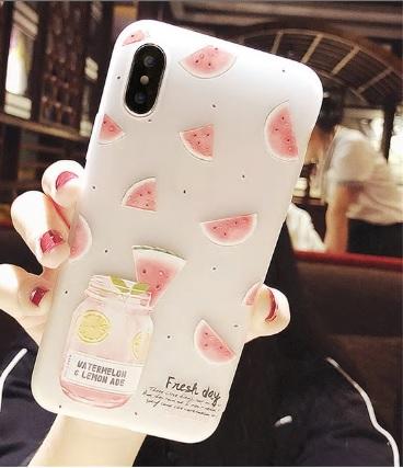 tpu zomers watermeloen telefoonhoesje