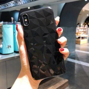 zwart diamant telefoonhoesje