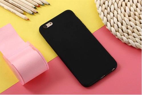 soft zwart iphone telefoonhoesje