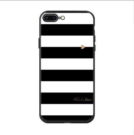 zwart met wit gestreept telefoonhoesje