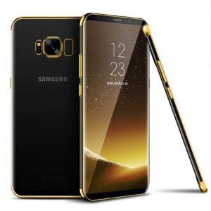 gouden transparant telefoonhoesje