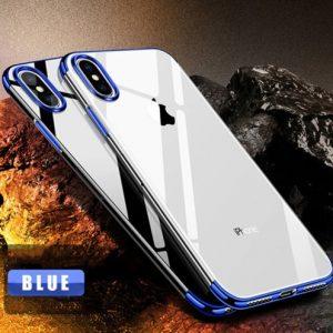 blauw transparant telefoonhoesje