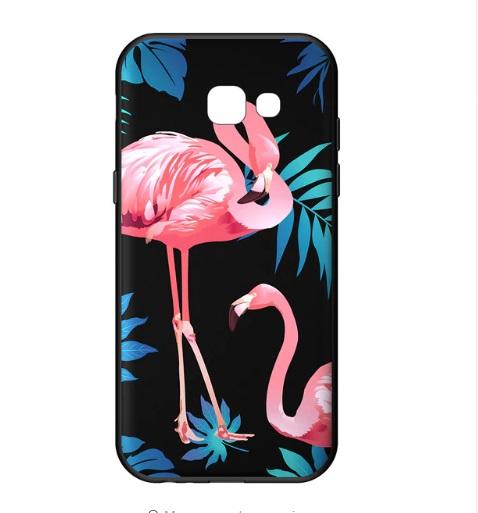 vrolijk flamingo telefoonhoesje