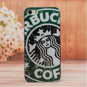 zwart koffie design telefoonhoesje
