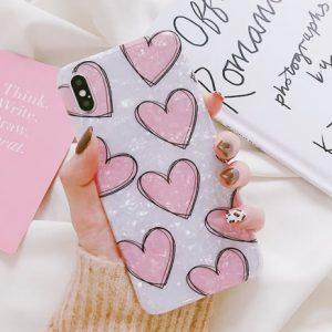 romantisch hartjes telefoonhoesje