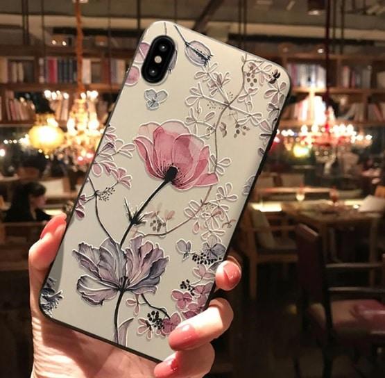 3D bloemetjes telefoonhoesje